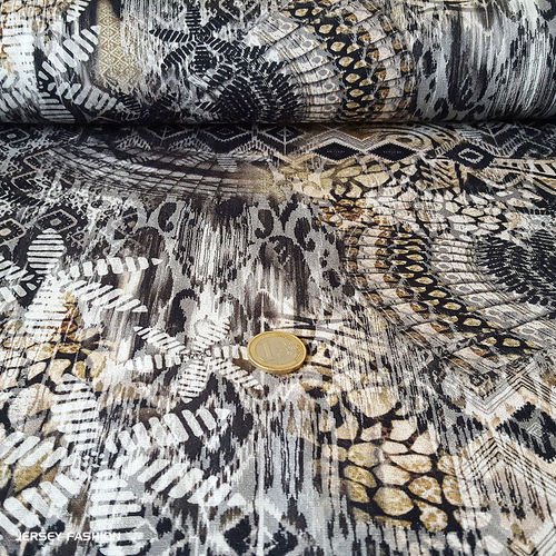 "Inkjet viscose jersey fabric ""Seronga"""