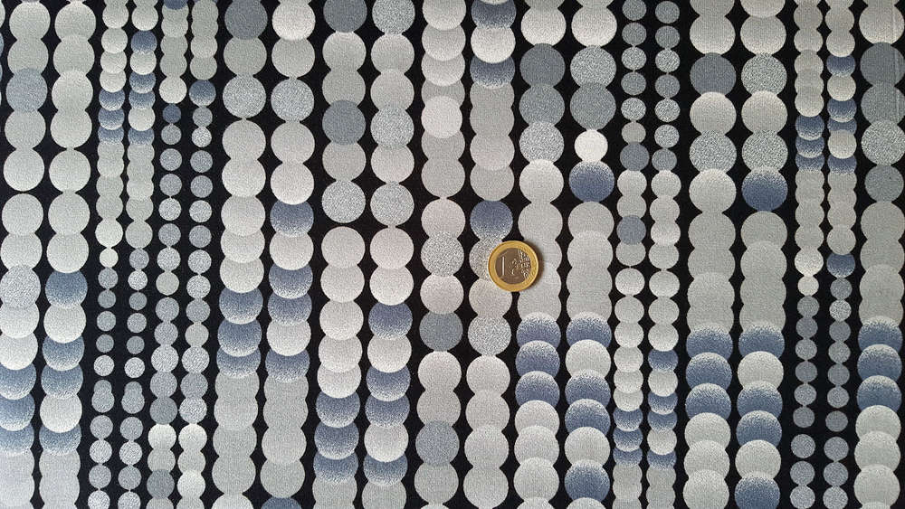 Designer Clothing Fabrics | Hilco Inkjet Viscose Jersey Fabric Silver Rain Fashion Fabrics