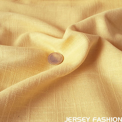 Viscose linen fabric soft yellow