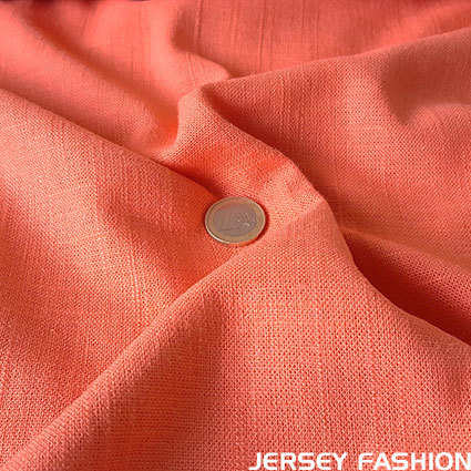Viscose linen fabric soft coral