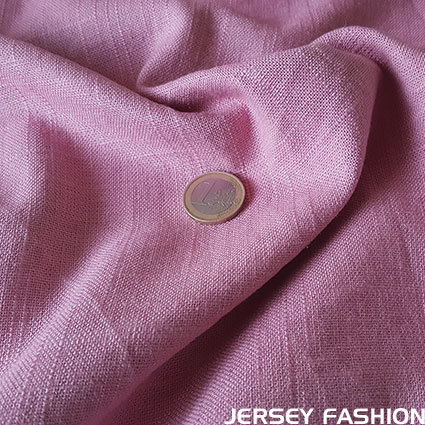 Viscose linen fabric light mauve