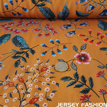 "Hilco geweven viscose ""Wild Flowers"""