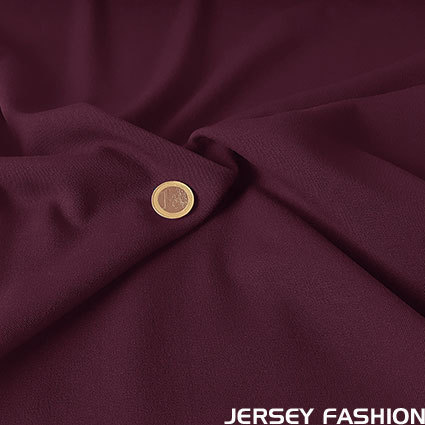 Stretch gabardine burgundy red