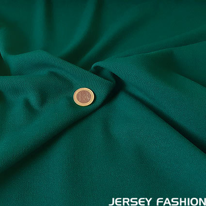 Stretch gabardine dark green