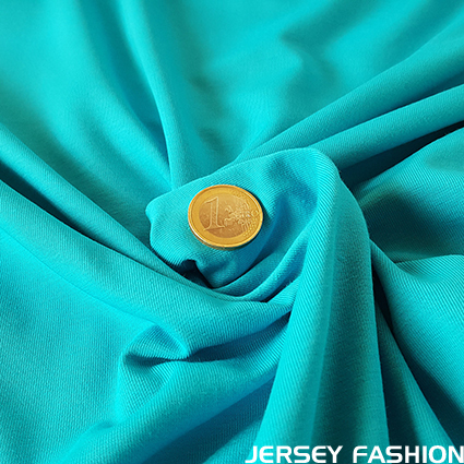 Cotton jersey Toptex turquoise | Remnant piece 160cm