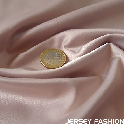 Stretch satin fabric soft old rose - Toptex