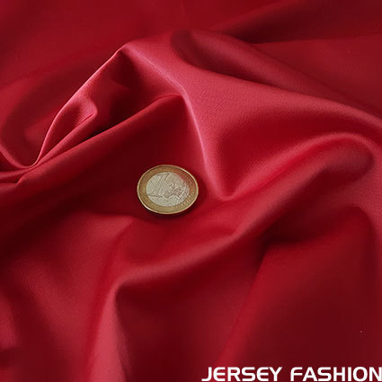 Toptex stretch satin fabric red
