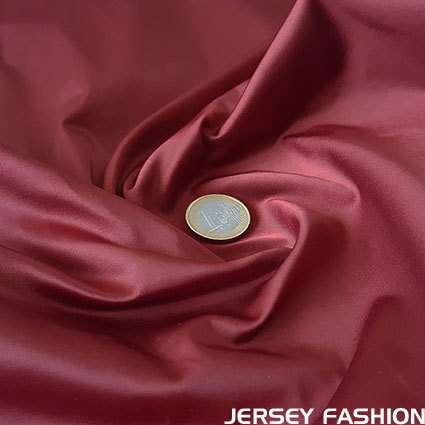 Toptex stretch satin fabric dark red