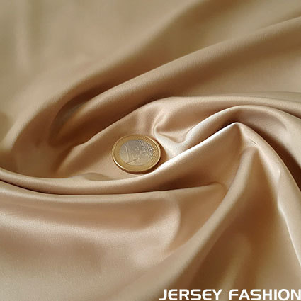 Stretch satin fabric sand - Toptex