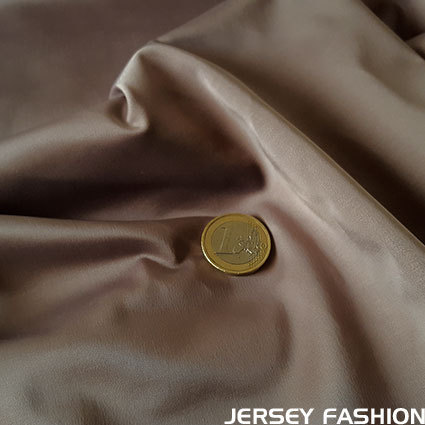 Toptex stretch satin fabric taupe