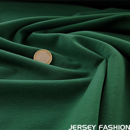Stretch cotton sweatshirt dark green | Remnant piece 67cm