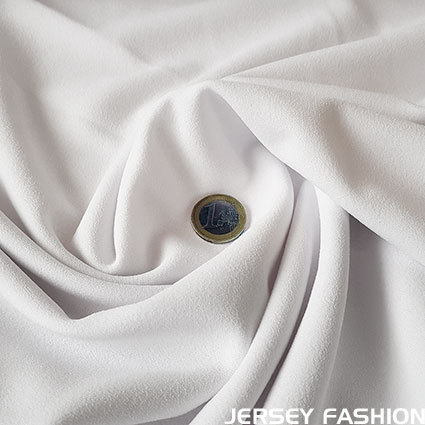 Jersey crepe fabric white