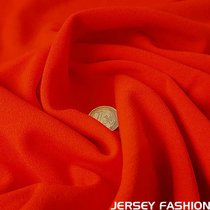 Jersey crêpe fabric red