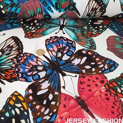 "Hilco viscose jersey fabric ""Butterfly"""
