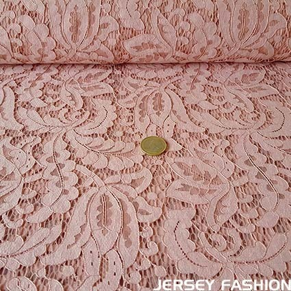 "Hilco lace fabric ""Biagio"" old rose"