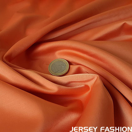 Stretch satin fabric orange - Toptex