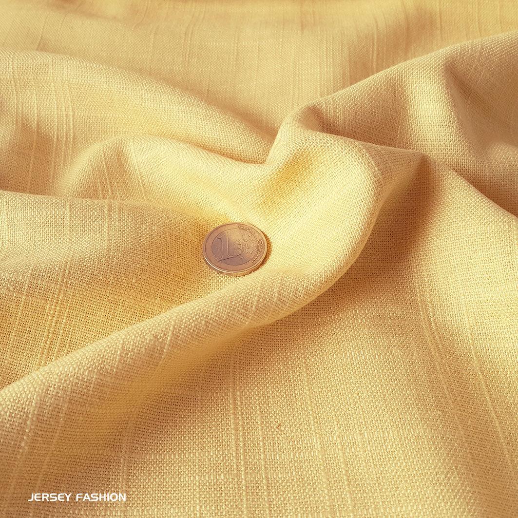 Viscose Linen Fabric Soft Yellow Remnant Piece 117cm Fabrics
