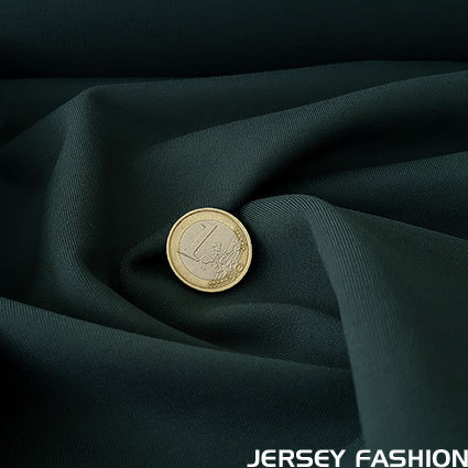 Toptex fine stretch cotton twill fabric dark green
