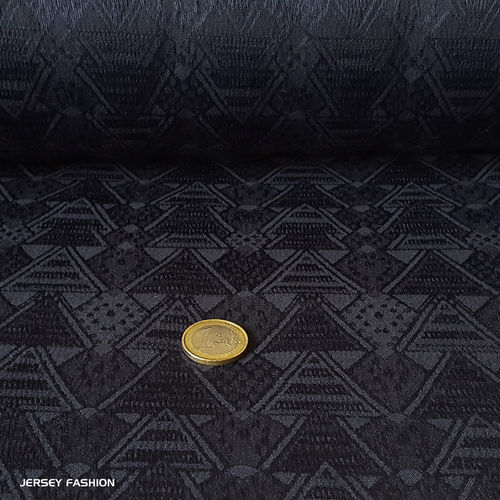 "Toptex stretch jacquard fabric ""Cassano"" dark blue"