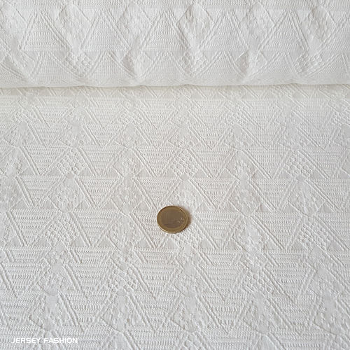 "Toptex stretch jacquard fabric ""Cassano"" white"