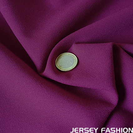 Stretch crepe fabric magenta - Toptex