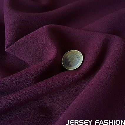 Stretch crepe fabric middle violet - Toptex
