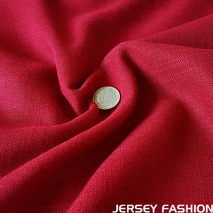 Viscose linen fabric red | Remnant piece 150cm