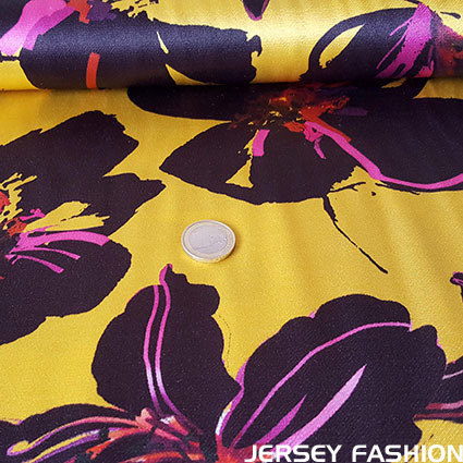 "Viscose satin fabric ""Bella"" - La Maison Victor"