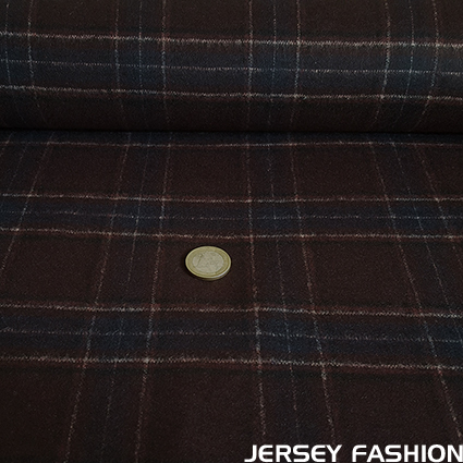 "Woven wool flannel fabric ""Clan"" - Hilco"