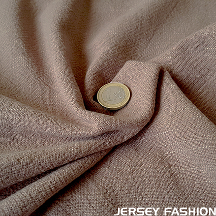 Viscose linen bio enzyme washed taupe