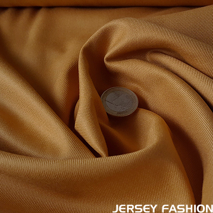 Stretch bamboo gabardine fabric - ocher yellow