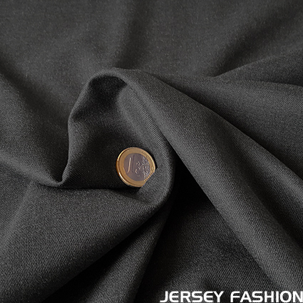 Stretch bamboo gabardine fabric - dark grey melange