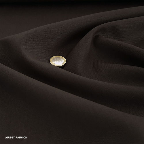 Wool gabardine dark brown | Remnant piece 112cm
