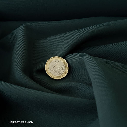 Toptex fine stretch cotton twill fabric dark green | Remnant piece 155cm