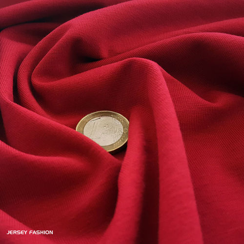 Cotton jersey warm red - Toptex | Remnant piece 178cm