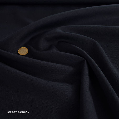 Wool gabardine dark blue | Remnant piece 42cm