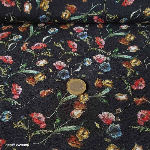 "Stretch viscose crepe fabric ""Jamila"" 