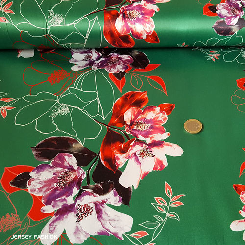 "Hilco stretch satin fabric ""Clarisa"" 