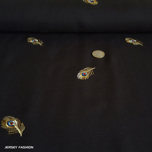 "Embroidered viscose twill fabric - Hilco ""Romeo"" 
