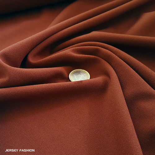 Fine stretch crepe Toptex rust brown | Remnant piece 160cm