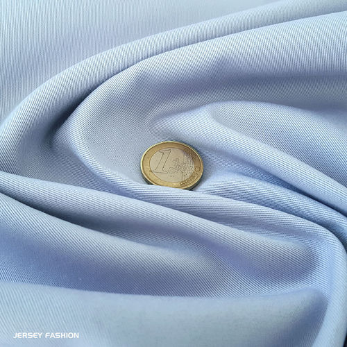 Toptex fine stretch cotton twill fabric light blue | Remnant piece 118cm