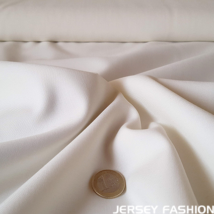 Wool gabardine fabric ecru