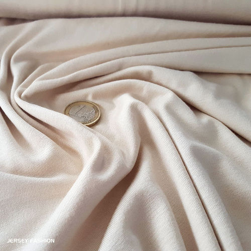 Bamboo jersey soft light beige - Toptex | Remnant pc 140cm