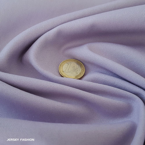 Toptex fine stretch cotton twill fabric soft lavender | Remnant piece 60cm