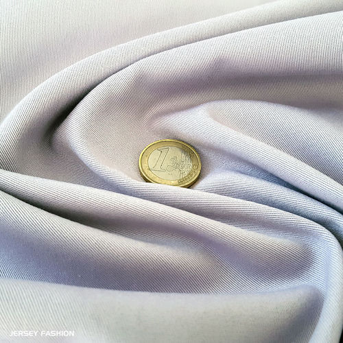 Toptex fine stretch cotton twill fabric light grey | Remnant piece 80cm