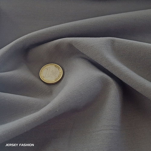 Toptex fine stretch cotton twill fabric middle grey | Remnant piece 115cm