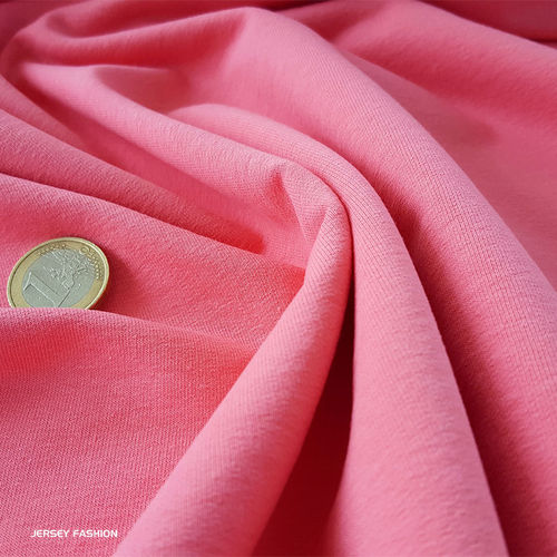 Stretch cotton sweatshirt rose
