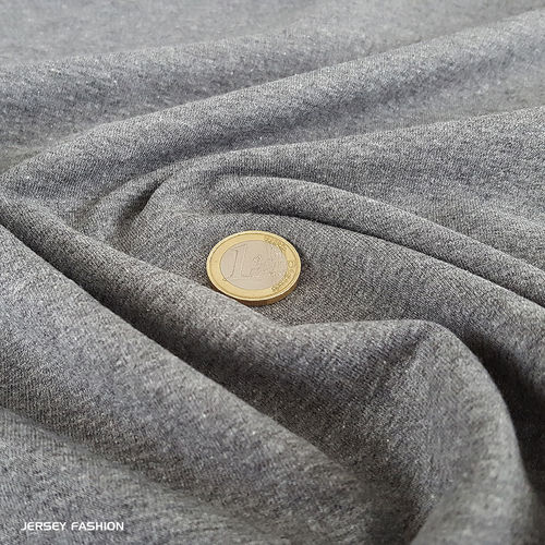 Stretch cotton sweatshirt anthracite grey | Remnant piece 194cm