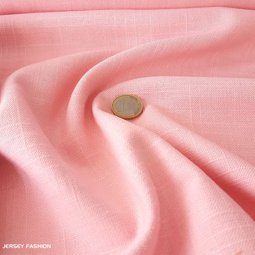 Viscose linen soft rose | Remnant piece 140cm