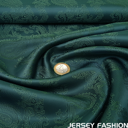 Taffeta jacquard (lining) paisley forest green - forest green